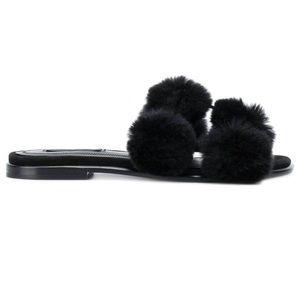 Alexander Wang Real Fur Slippers